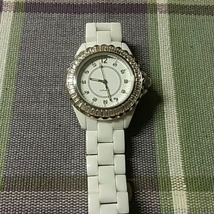 White Ceramic Watch by Adrienne